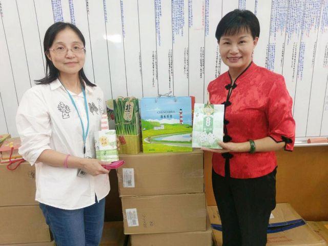 中廣孫記者對於清水農特產品以及加工食品的採訪
